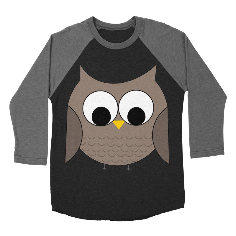 Owl in the Sky Men's Baseball Triblend Longsleeve T-Shirt by denisegraphiste's Artist Shop