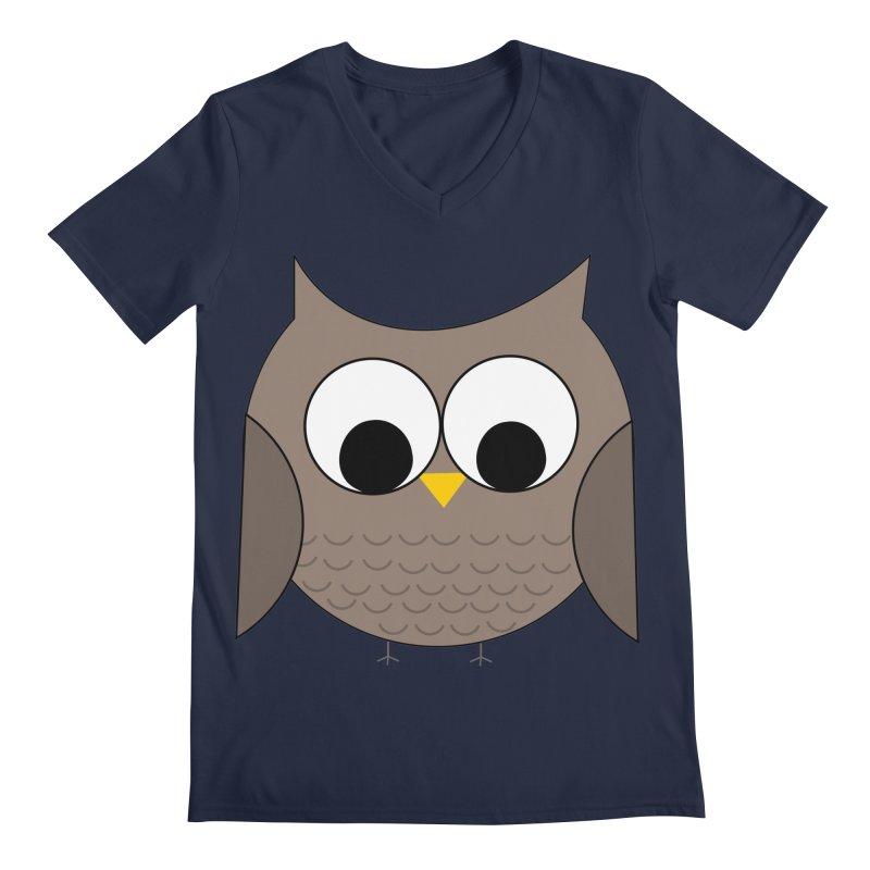 Owl in the Sky Men's Regular V-Neck by denisegraphiste's Artist Shop