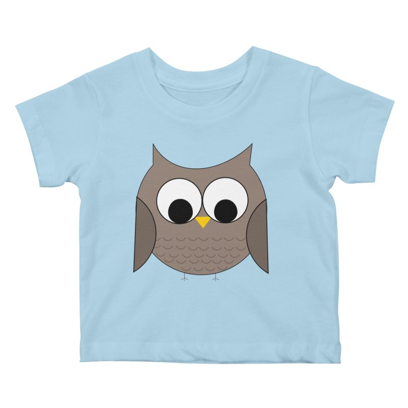 Owl in the Sky Kids Baby T-Shirt by denisegraphiste's Artist Shop