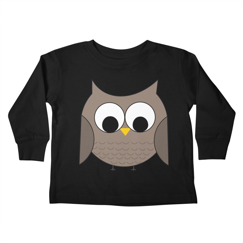 Owl in the Sky Kids Toddler Longsleeve T-Shirt by denisegraphiste's Artist Shop