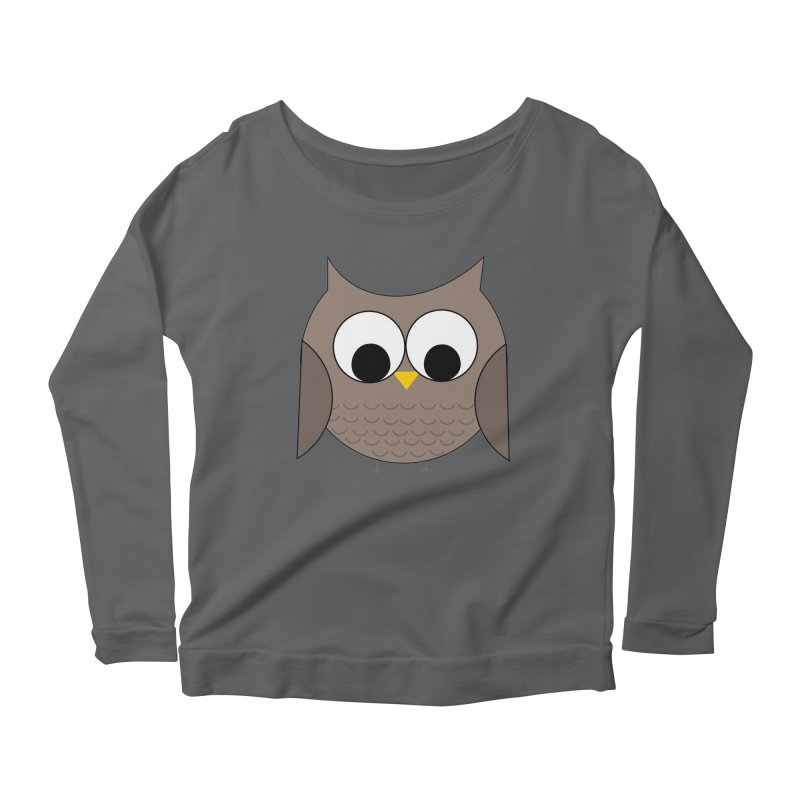 Owl in the Sky Women's Scoop Neck Longsleeve T-Shirt by denisegraphiste's Artist Shop