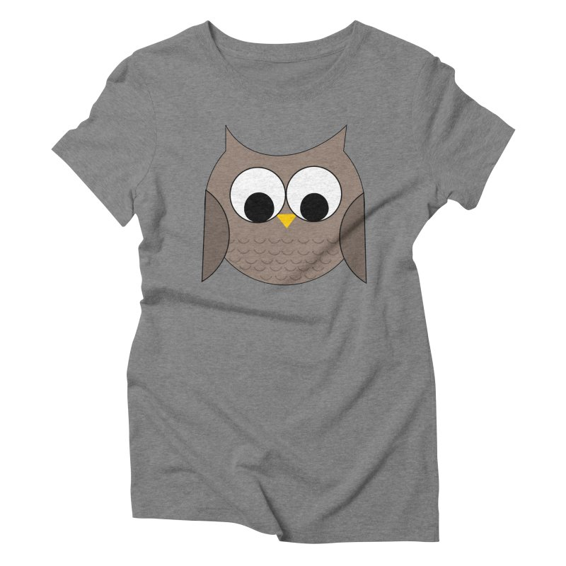 Owl in the Sky Women's Triblend T-Shirt by denisegraphiste's Artist Shop