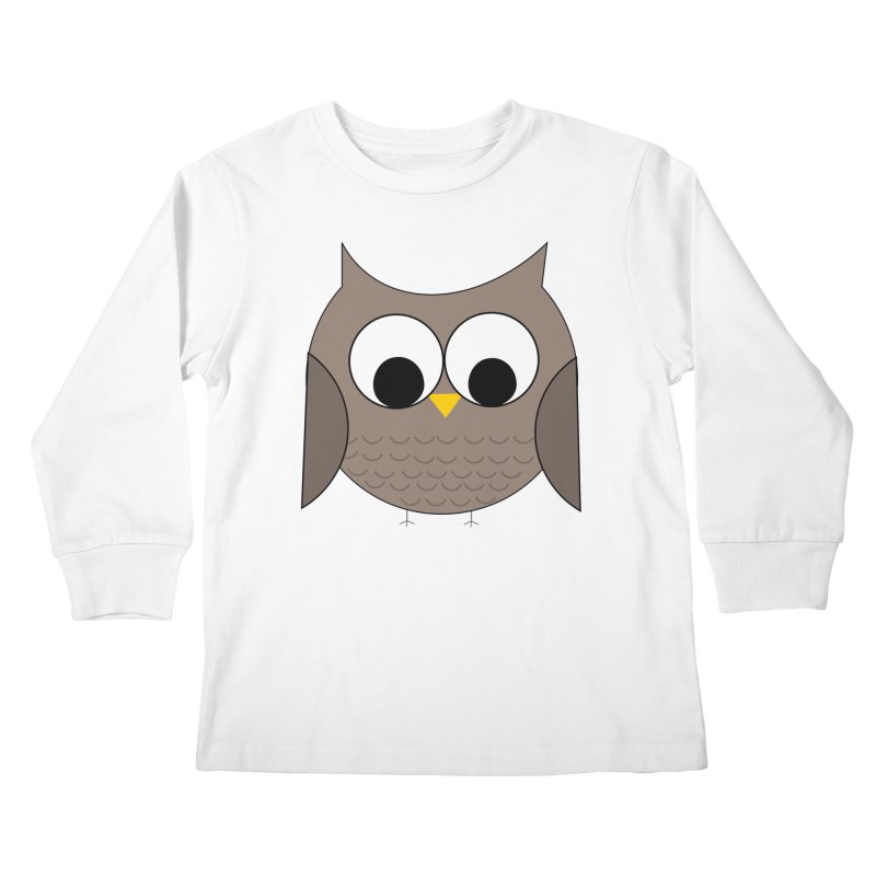Owl in the Sky Kids Longsleeve T-Shirt by denisegraphiste's Artist Shop