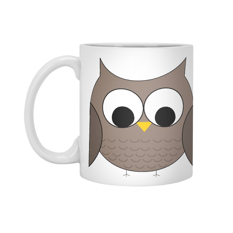 Owl in the Sky Accessories Standard Mug by denisegraphiste's Artist Shop