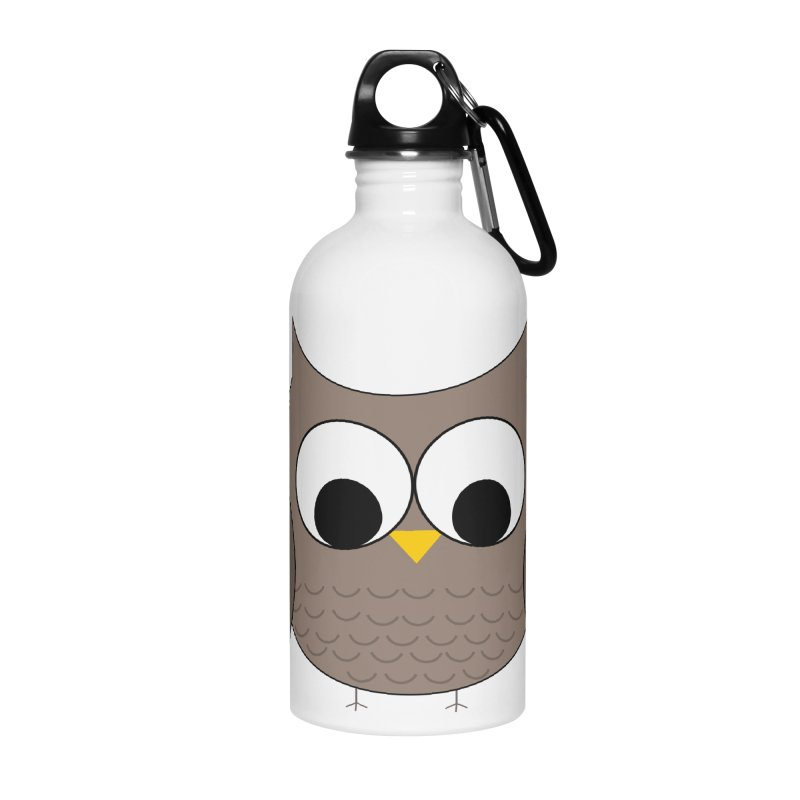 Owl in the Sky Accessories Water Bottle by denisegraphiste's Artist Shop