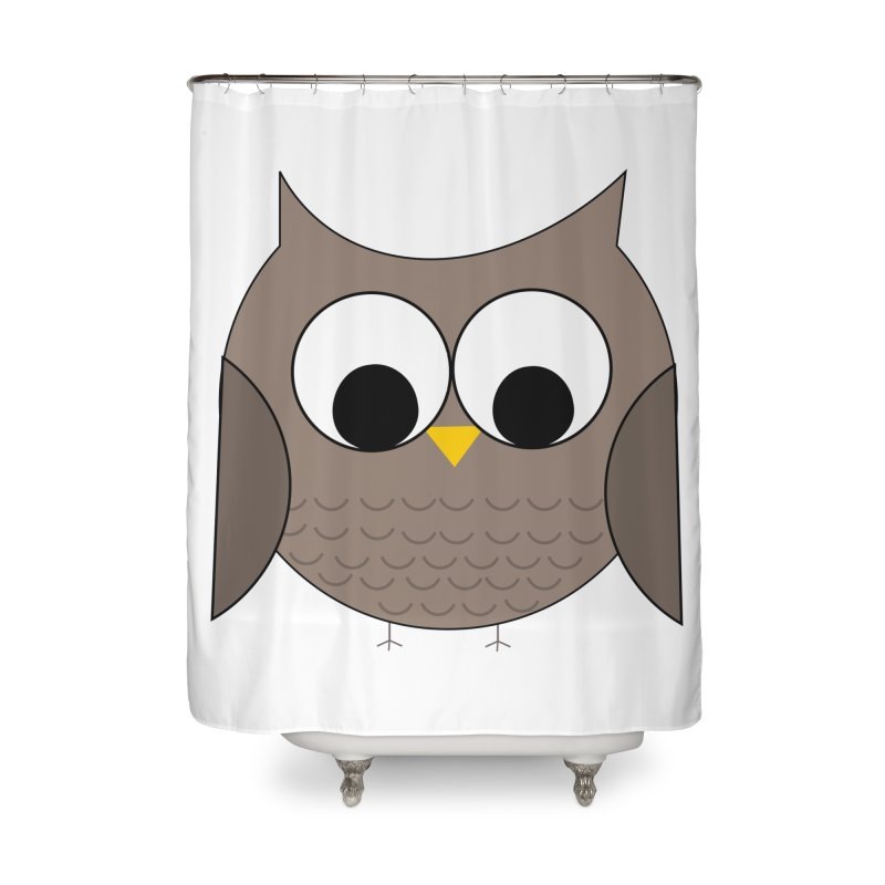 Owl in the Sky Home Shower Curtain by denisegraphiste's Artist Shop