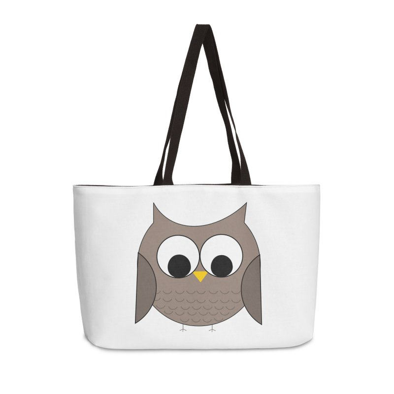 Owl in the Sky Accessories Weekender Bag Bag by denisegraphiste's Artist Shop