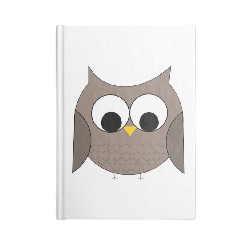 Owl in the Sky Accessories Lined Journal Notebook by denisegraphiste's Artist Shop