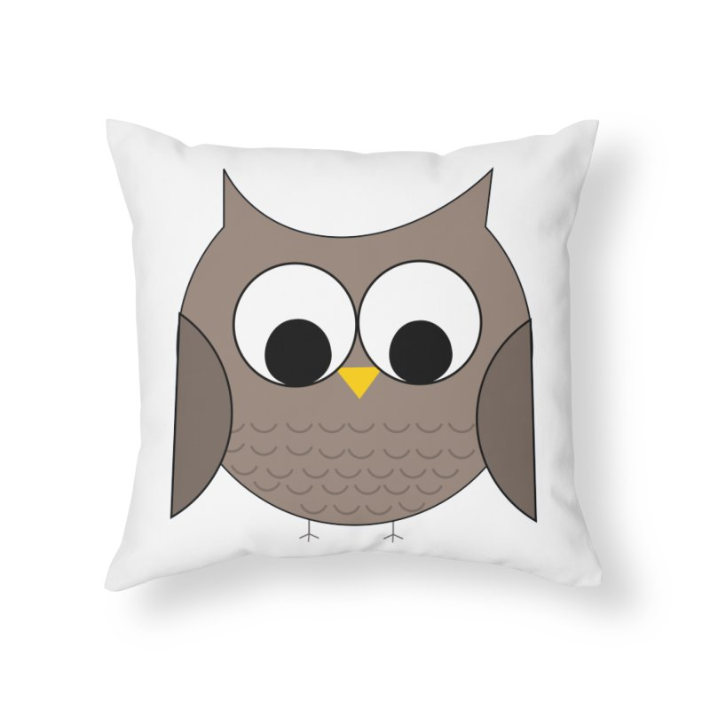 Owl in the Sky Home Throw Pillow by denisegraphiste's Artist Shop