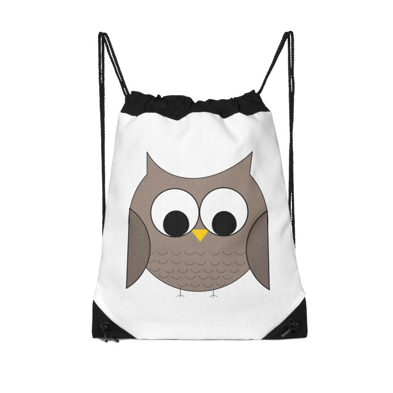 Owl in the Sky Accessories Drawstring Bag Bag by denisegraphiste's Artist Shop