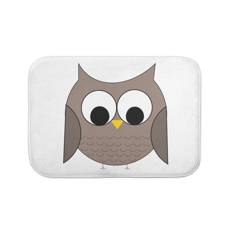 Owl in the Sky Home Bath Mat by denisegraphiste's Artist Shop