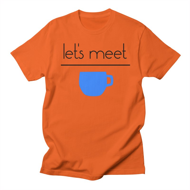 Let's Meet Over Coffee Men's T-Shirt by denisegraphiste's Artist Shop