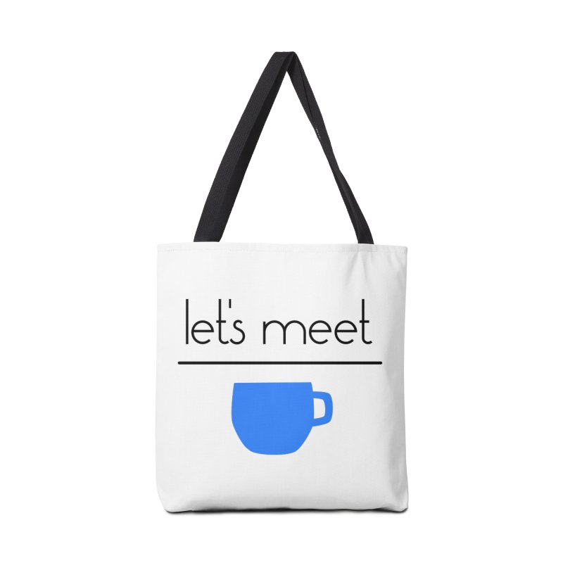 Let's Meet Over Coffee Accessories Tote Bag Bag by denisegraphiste's Artist Shop