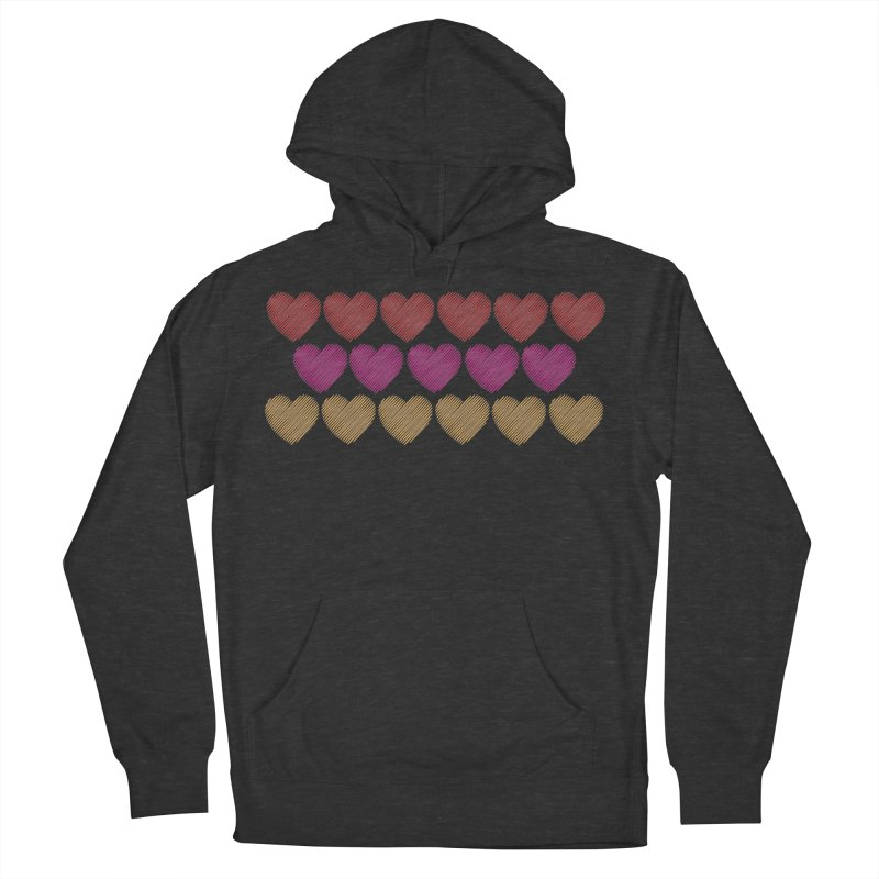 Bunch of Hearts Women's French Terry Pullover Hoody by denisegraphiste's Artist Shop