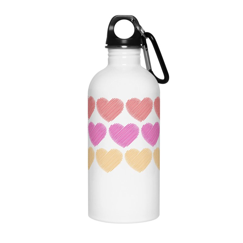 Bunch of Hearts Accessories Water Bottle by denisegraphiste's Artist Shop