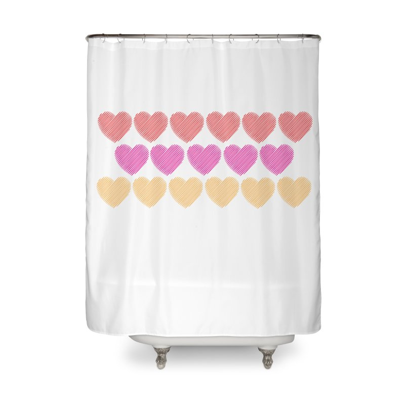 Bunch of Hearts Home Shower Curtain by denisegraphiste's Artist Shop