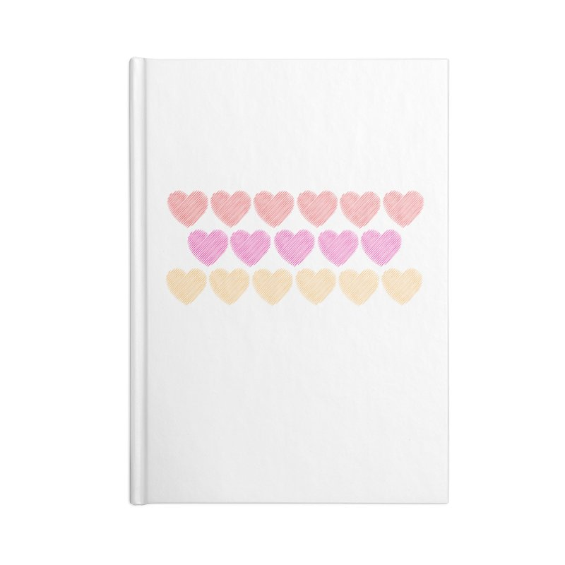 Bunch of Hearts Accessories Lined Journal Notebook by denisegraphiste's Artist Shop