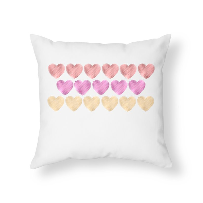 Bunch of Hearts Home Throw Pillow by denisegraphiste's Artist Shop