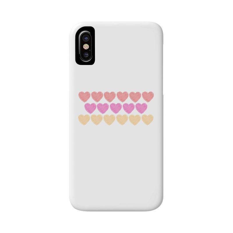 Bunch of Hearts Accessories Phone Case by denisegraphiste's Artist Shop