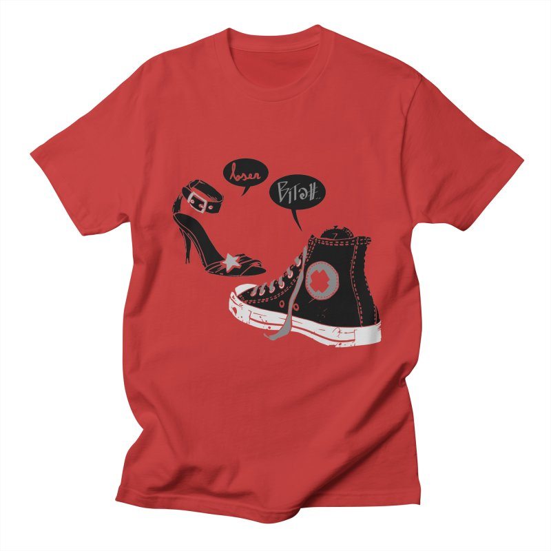 These Shoes  in Men's T-shirt Red by denismedri's Artist Shop