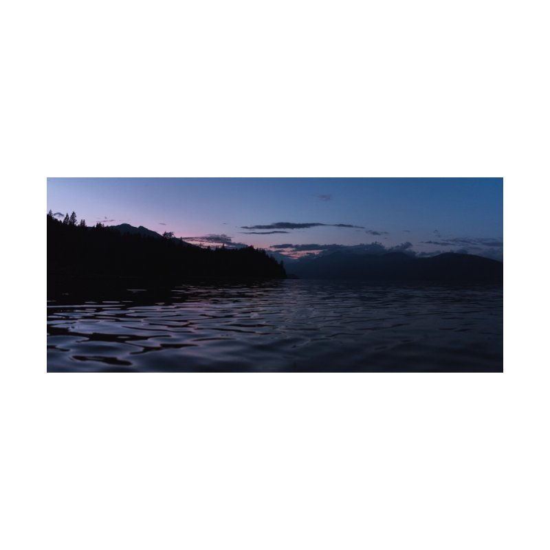 Panorama of Harrison Lake Bathed in Pink Light by denjinosee