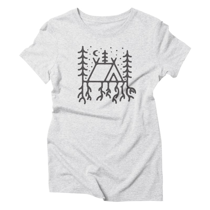 Setting Roots Women's Triblend T-Shirt by Dennis Good