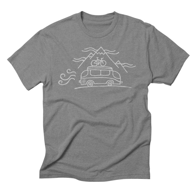 Road Trip in Men's Triblend T-Shirt Grey Triblend by Dennis Good