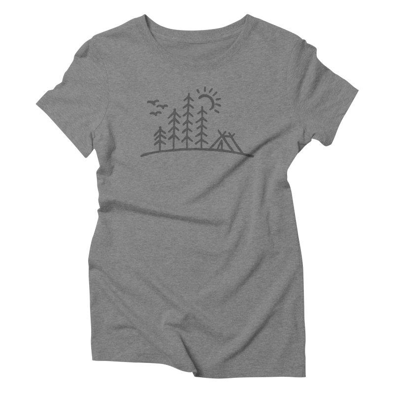 Campin Women's Triblend T-Shirt by Dennis Good