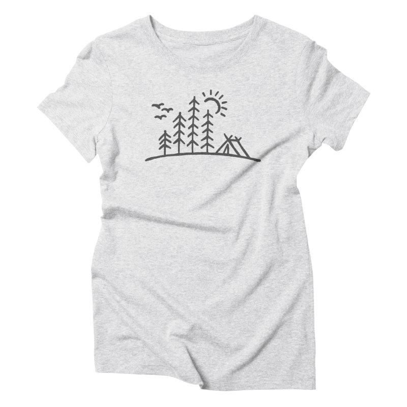 Camp Site Women's T-Shirt by Dennis Good
