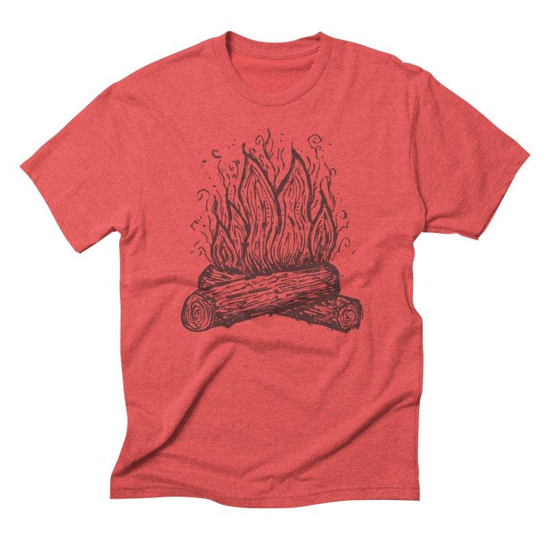 Camp Fire Men's T-Shirt by Dennis Good