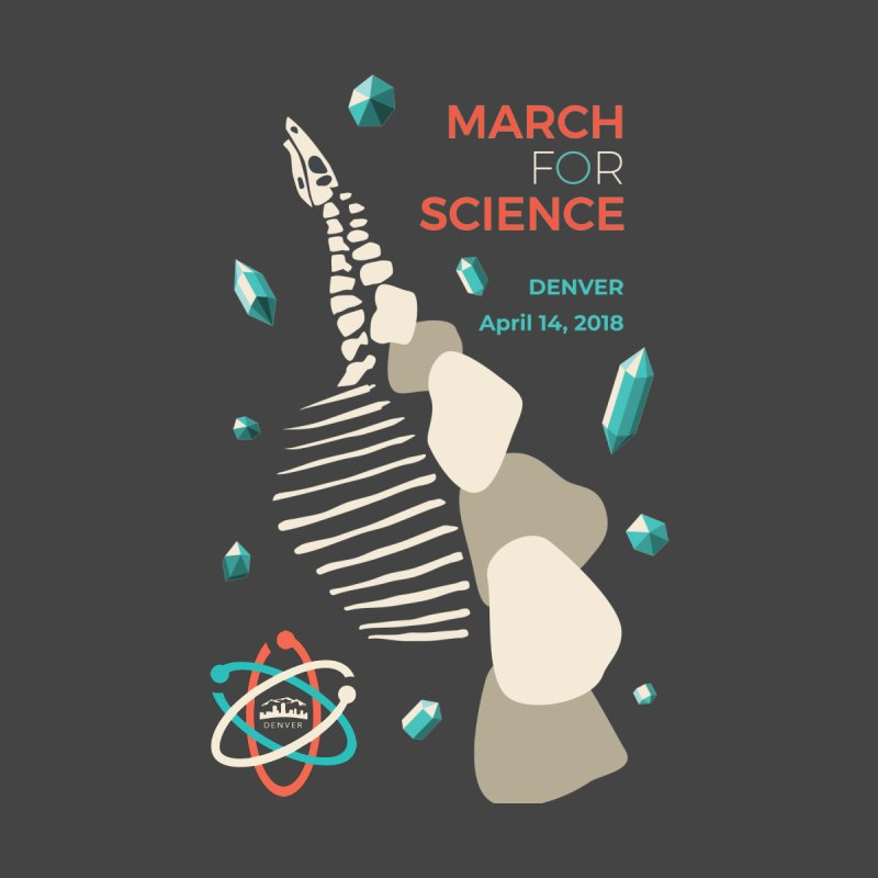 Denver March For Science Dinosaur Men's Zip-Up Hoody by Denver March For Science's Artist Shop