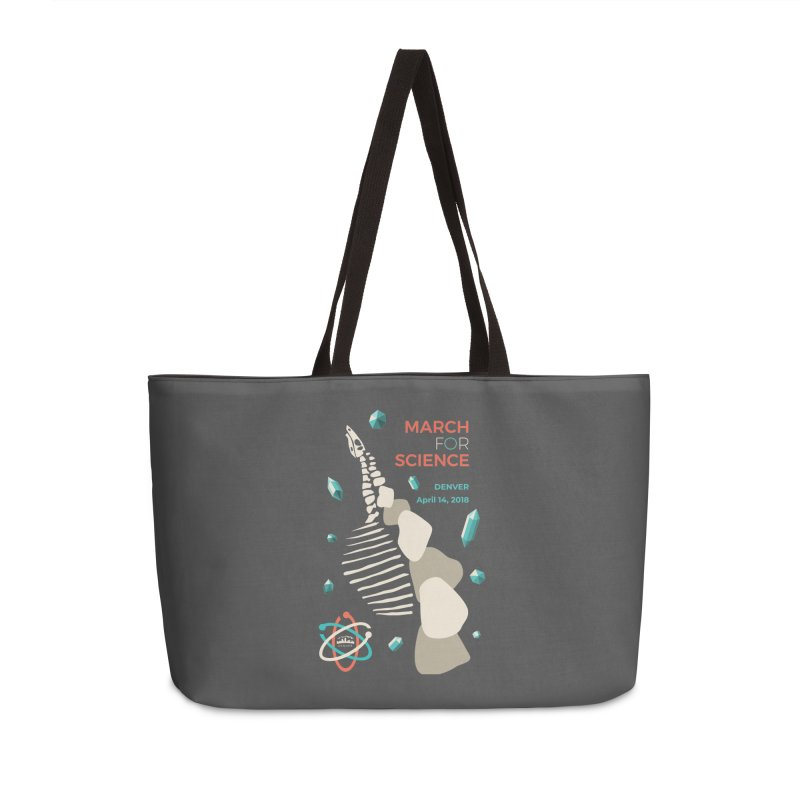 Denver March For Science Dinosaur Accessories Weekender Bag Bag by Denver March For Science's Artist Shop