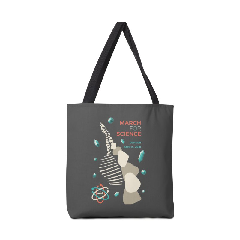 Denver March For Science Dinosaur Accessories Tote Bag Bag by Denver March For Science's Artist Shop