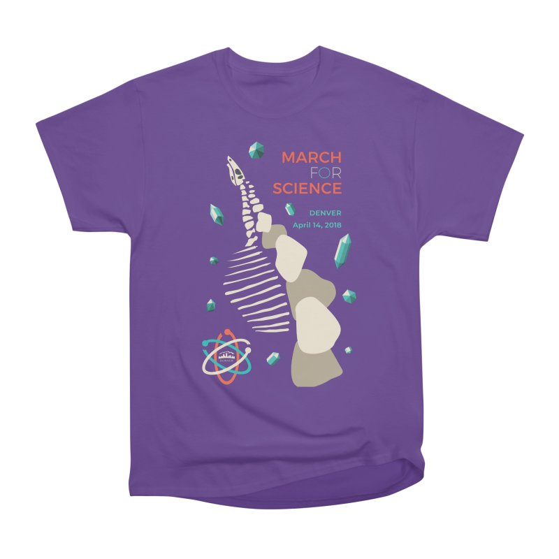 Denver March For Science Dinosaur Men's T-Shirt by Denver March For Science's Artist Shop