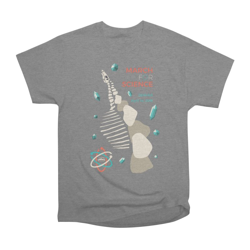 Denver March For Science Dinosaur Women's T-Shirt by Denver March For Science's Artist Shop