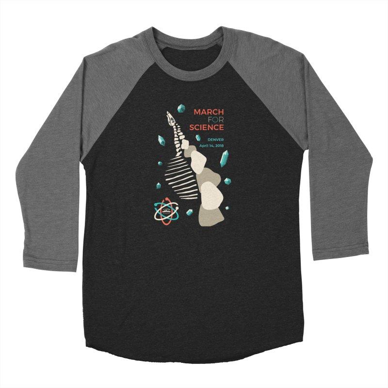 Denver March For Science Dinosaur Men's Longsleeve T-Shirt by Denver March For Science's Artist Shop
