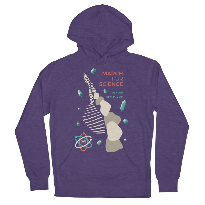 Denver March For Science Dinosaur Women's French Terry Pullover Hoody by Denver March For Science's Artist Shop