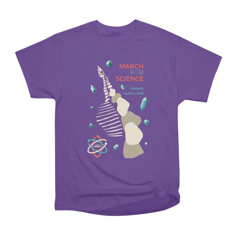 Denver March For Science Dinosaur Men's Heavyweight T-Shirt by Denver March For Science's Artist Shop