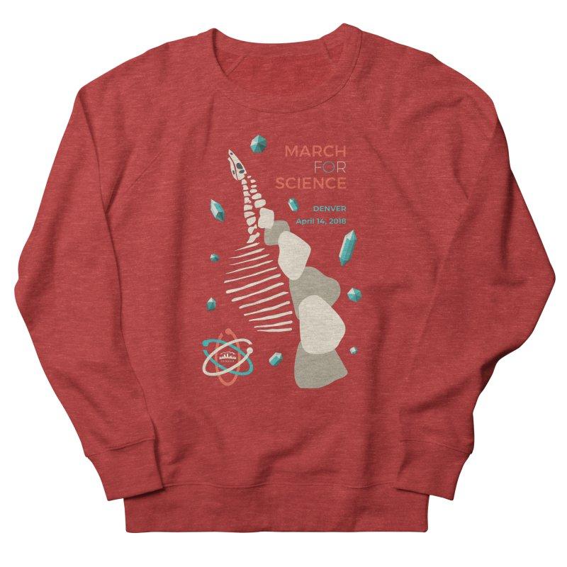 Denver March For Science Dinosaur Women's French Terry Sweatshirt by Denver March For Science's Artist Shop