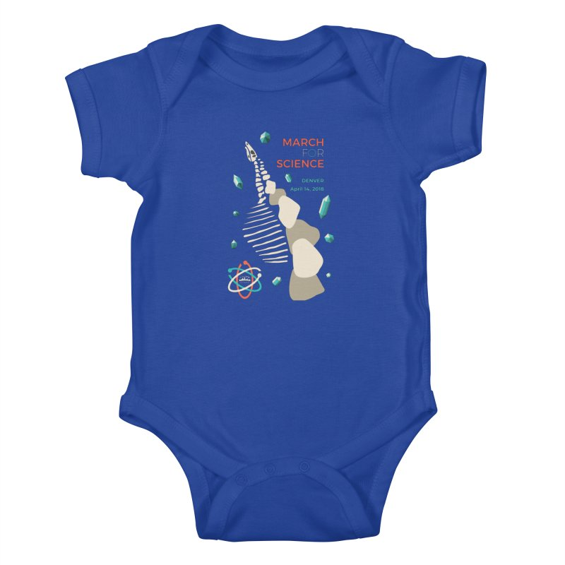 Denver March For Science Dinosaur Kids Baby Bodysuit by Denver March For Science's Artist Shop