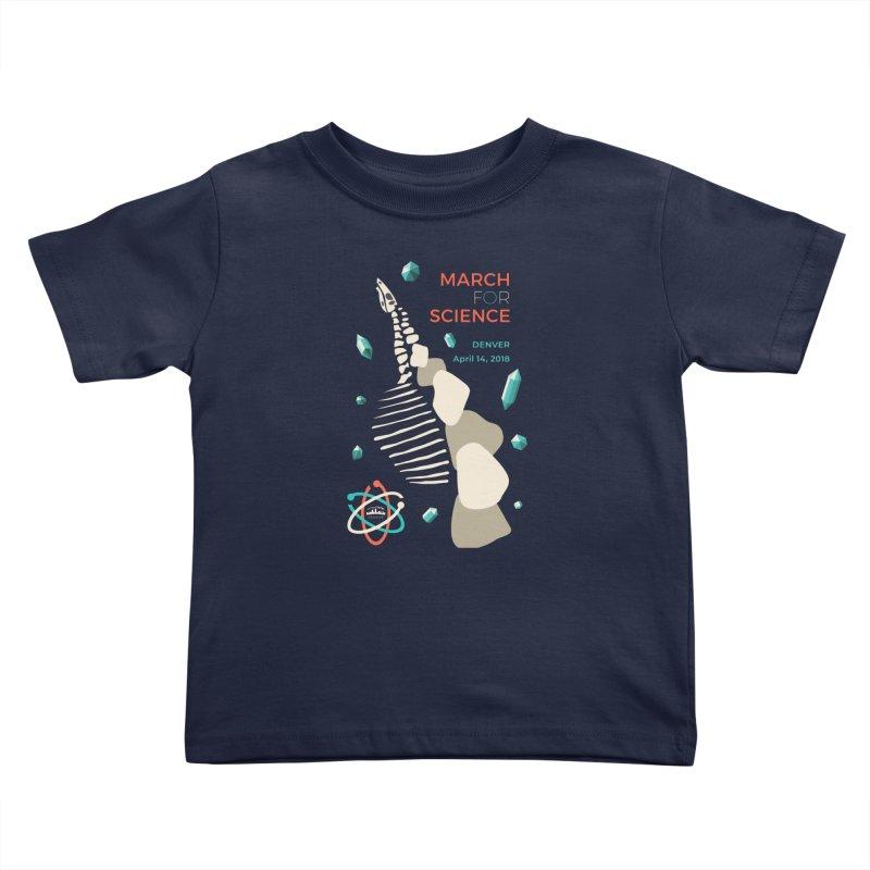 Denver March For Science Dinosaur Kids Toddler T-Shirt by Denver March For Science's Artist Shop