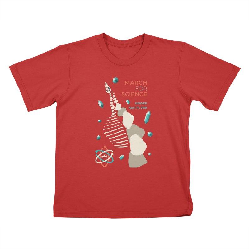 Denver March For Science Dinosaur Kids T-Shirt by Denver March For Science's Artist Shop