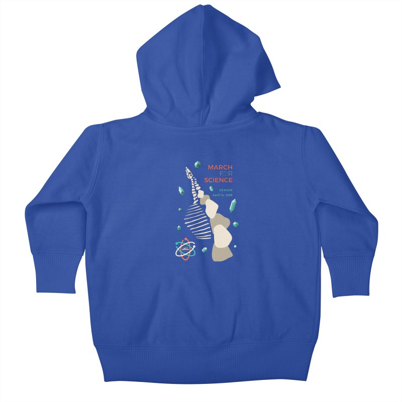 Denver March For Science Dinosaur Kids Baby Zip-Up Hoody by Denver March For Science's Artist Shop