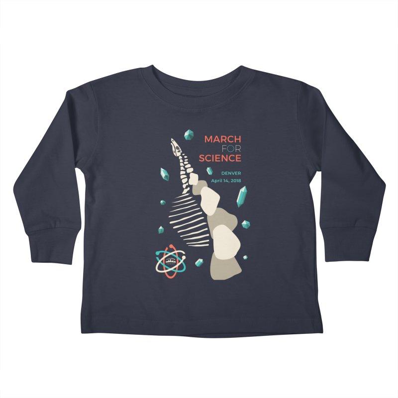 Denver March For Science Dinosaur Kids Toddler Longsleeve T-Shirt by Denver March For Science's Artist Shop