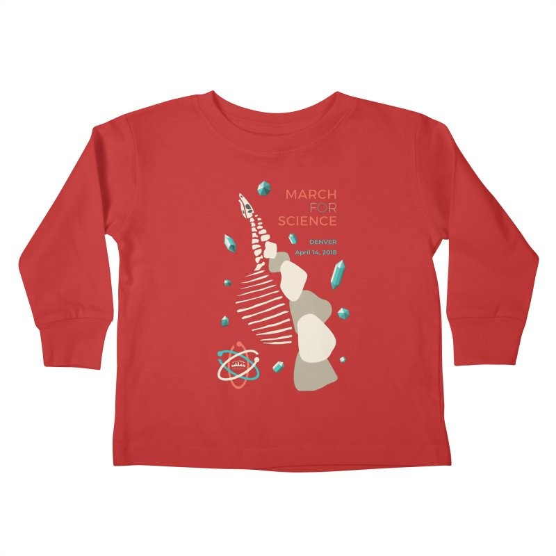 Denver March For Science Dinosaur Kids Toddler Longsleeve T-Shirt by Denver March For Science's Artist Shop