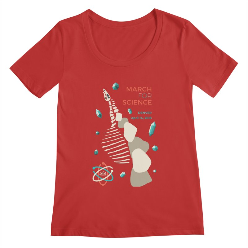 Denver March For Science Dinosaur Women's Regular Scoop Neck by Denver March For Science's Artist Shop