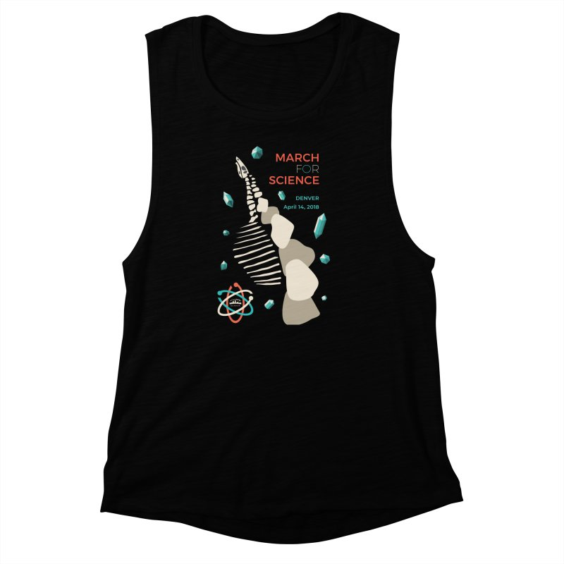 Denver March For Science Dinosaur Women's Muscle Tank by Denver March For Science's Artist Shop