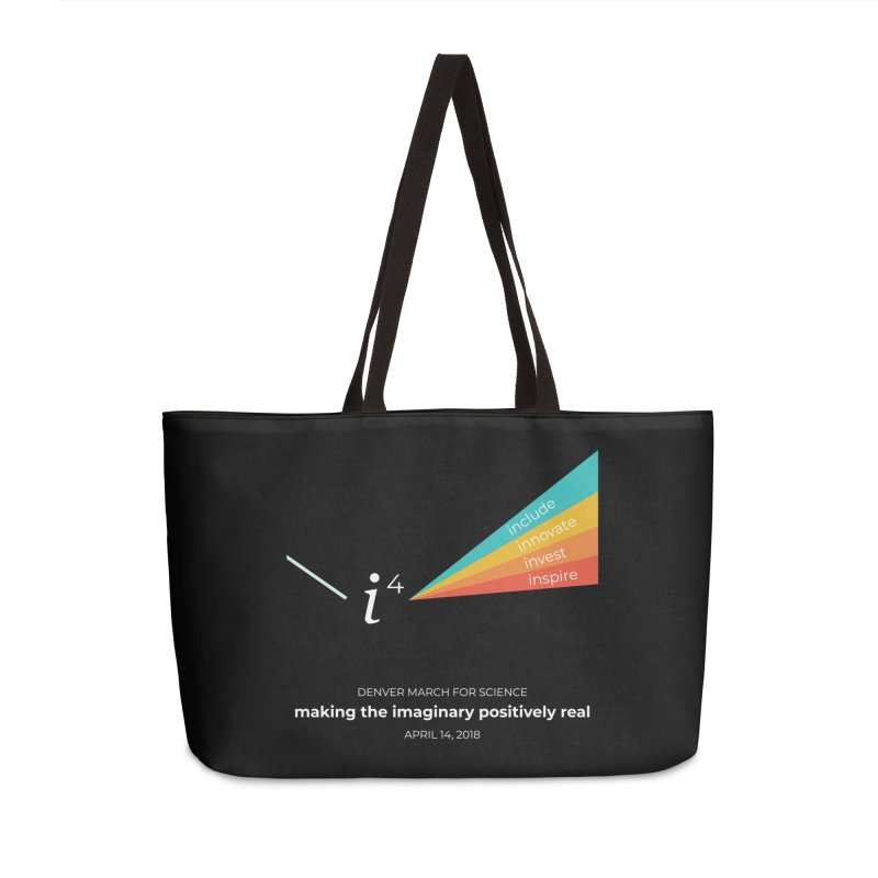 Denver March For Science i^4 Accessories Weekender Bag Bag by Denver March For Science's Artist Shop