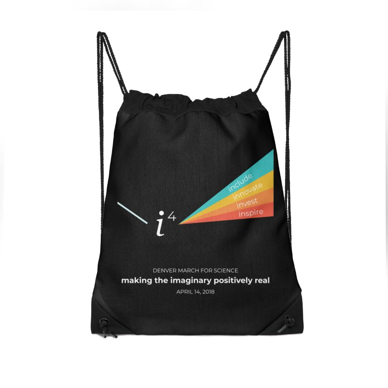 Denver March For Science i^4 Accessories Drawstring Bag Bag by Denver March For Science's Artist Shop