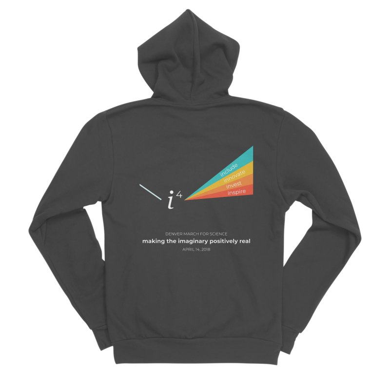 Denver March For Science i^4 Men's Sponge Fleece Zip-Up Hoody by Denver March For Science's Artist Shop